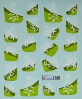 Водная наклейка для дизайна ногтей BLE-1759