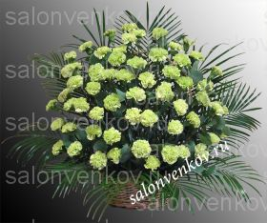 Траурная корзина из живых цветов N62, высота 70см