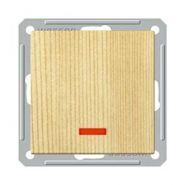 Выключатель 1-о клавишный с индикатором (250В, 16А, сосна)