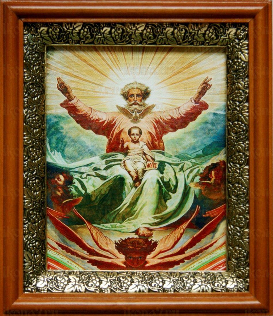 Новозаветная Троица (19х22), светлый киот