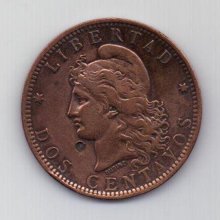 2 сентаво 1890 г.  Аргентина
