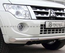 Защита переднего бампера, Metec, сталь ф 60мм с LED огнями