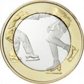Фигурное катание  5 евро Финляндия 2015 Новинка!!!