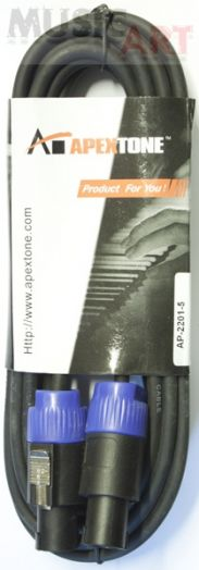 Apextone AP-2201/5 Колоночный кабель спикон-спикон, 5 м