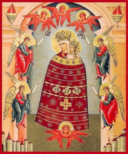 Прибавление ума икона Божией Матери (рукописная)