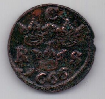 1/6 оре (эре) 1666 г. Швеция