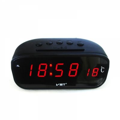 VST803C-1 часы крас.цифры