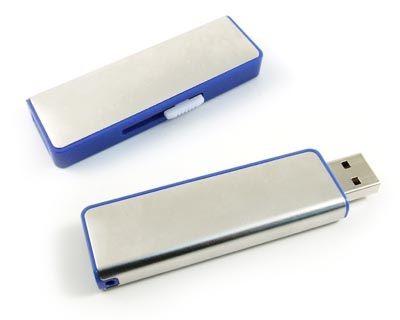 64GB USB-флэш накопитель Apexto U108B металлический слайдер, синяя вставка