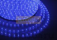 Дюралайт светодиодный, постоянное свечение(2W), синий, 220В, бухта 100м