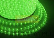 Дюралайт светодиодный, свечение с динамикой (3W), зеленый, 220В, диаметр 13 мм, бухта 100м, NEON-NIGHT