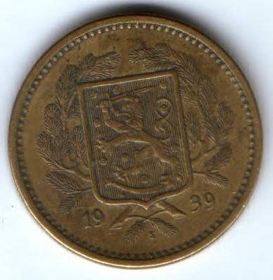 20 марок 1939 г. Финляндия