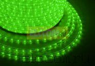 Дюралайт светодиодный, эффект мерцания(2W), зеленый, 220В, диаметр 13 мм, бухта 100м, NEON-NIGHT