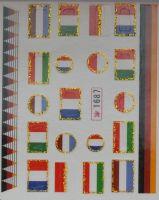 Наклейки на водной основе для дизайна ногтей №1687
