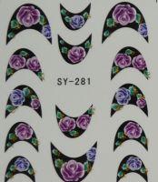 Наклейки на водной основе для дизайна ногтей SY281