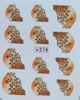 Наклейки на водной основе для дизайна ногтей №274
