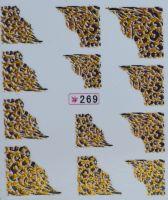 Наклейки на водной основе для дизайна ногтей №269