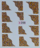 Наклейки на водной основе для дизайна ногтей №268
