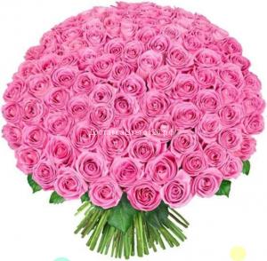 51 и 101 розовая роза 60 см.