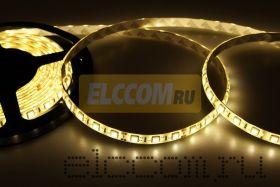 LED лента герметичная в силиконе, ширина 10 мм, IP65, SMD 5050, 60 диодов/метр, 12V, цвет светодиодов теплый белый