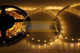 LED лента открытая, ширина 10 мм, IP23, SMD 3528, 60 диодов/метр, светоотдача 6 LM/1 LED, 12V, цвет светодиодов теплый белый LAMPER