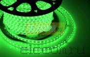 LED лента Neon-Night, герметичная в силиконовой оболочке, 220V, 10*7 мм, IP65, SMD 3528, 60 диодов/метр, цвет светодиодов зеленый, бухта 100 метров