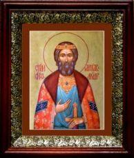 Ярослав Мудрый (19х22), темный киот