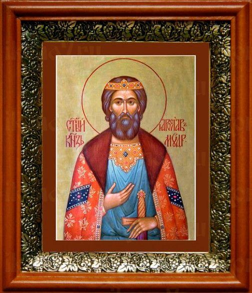 Ярослав Мудрый (19х22), светлый киот
