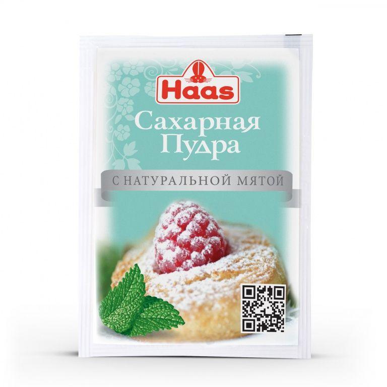 ХААС Сахарная пудра с натуральной мятой 80 г