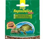 Tetra ReptoDelica Snack корм для водных черепах с дафнией гелевый блок (4х12г)