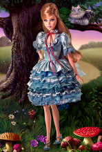 "Коллекционная кукла Алиса ""Алиса в Стране Чудес"" - Alice in Wonderland Barbie Doll"