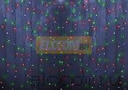 """Гирлянда """"Светодиодный Дождь"""" 2х1,5м, постоянное свечение, прозрачный провод, 220В, диоды РОЗОВЫЕ, NEON-NIGHT"""