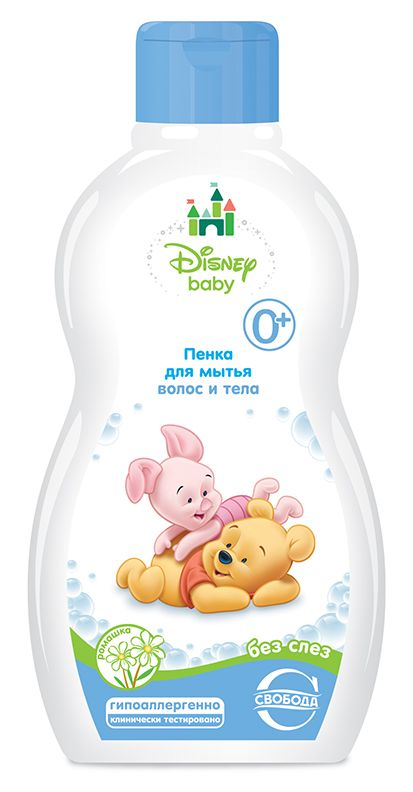 """Пенка для мытья волос и тела """"Disney Baby"""" с ромашкой без слез 0+, 254гр."""