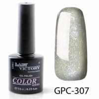 Цветной гель-лак с мерцанием Lady Victory, 7,3 ml GPC-307
