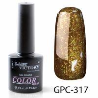 Цветной гель-лак с мерцанием Lady Victory, 7,3 ml GPC-317