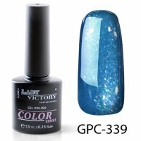 Цветной гель-лак с мерцанием Lady Victory, 7,3 ml GPC-339