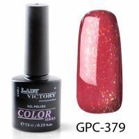 Цветной гель-лак с мерцанием Lady Victory, 7,3 ml GPC-379