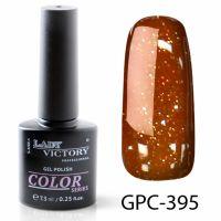 Цветной гель-лак с мерцанием Lady Victory, 7,3 ml GPC-395