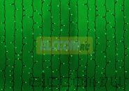 """Гирлянда """"Светодиодный Дождь"""" 2х3м, постоянное свечение, черный провод """"КАУЧУК"""", 220В, диоды ЗЕЛЁНЫЕ, NEON-NIGHT"""