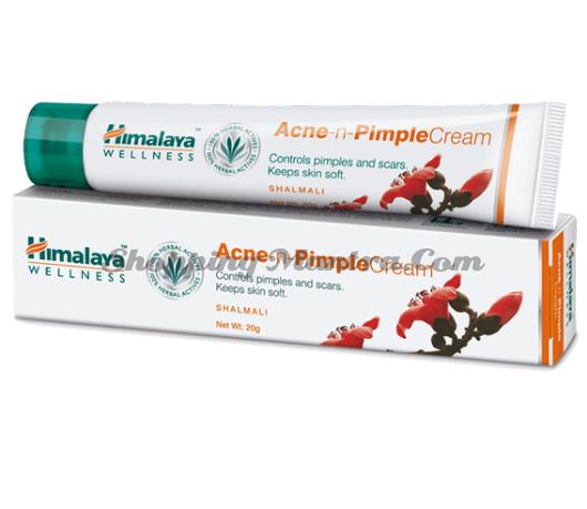 Крем против прыщей и угрей Хималая / Himalaya Acne-n-Pimple Cream