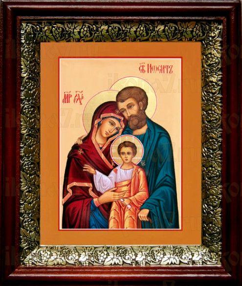 Святое Семейство (19х22), темный киот