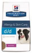 Hill's PD Canine d/d Allergy & Skin Care Duck and Rice Диетический корм с уткой и рисом при аллергии (2 кг)