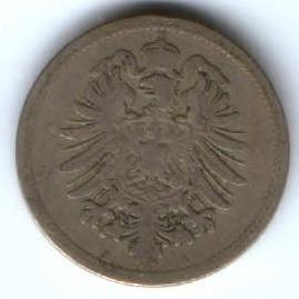 10 пфеннигов 1888 г. Германия