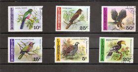 Птицы Либерия 1977 6 марок (гашеные)