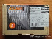 Багажник на крышу Toyota Auris, Атлант: аэродинамические дуги и опоры типа Е