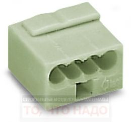 Клемма Wago Micro 4х0,6-0,8мм 243-304