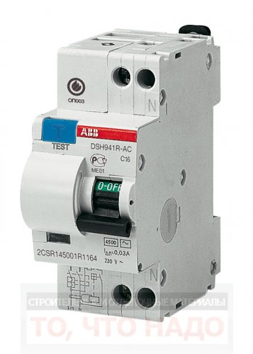 ДифАвтомат(АВДТ) 32А 30mA 1P+N ABB DSH941R