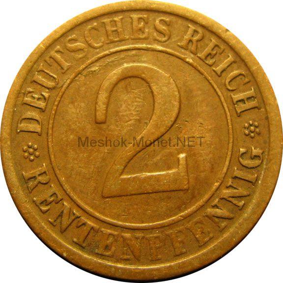 Германия 2 рентспфеннига 1924 г.