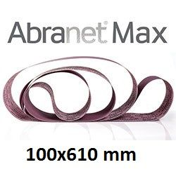 Лента шлифовальная ABRANET MAX 100x610mm P120 T-Joint, 10/Pack