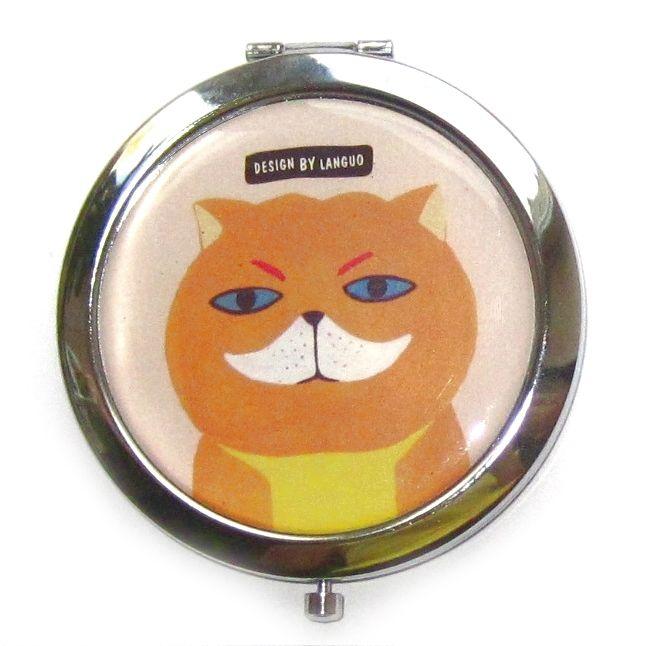"""Двойное карманное зеркало """"Cat Family"""" - White"""