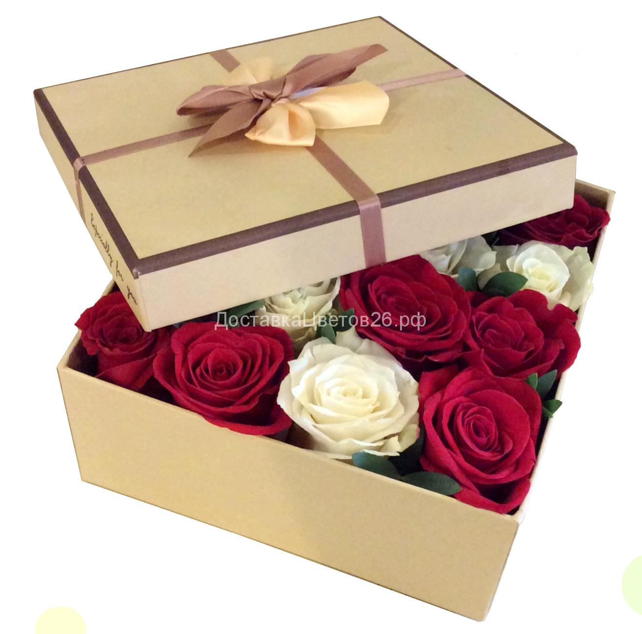 Розы в подарочной коробке